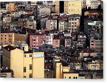 Istanbul Cityscape Vii Canvas Print by John Rizzuto