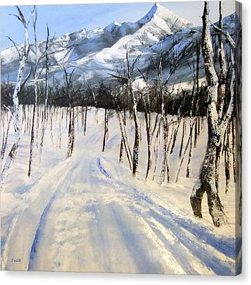 Istidan Mountain Canvas Print by Jennifer  Blenkinsopp