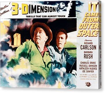 It Came From Outer Space, From Left Joe Canvas Print by Everett