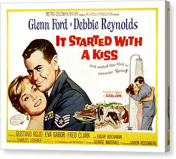It Started With A Kiss, Glenn Ford Canvas Print by Everett