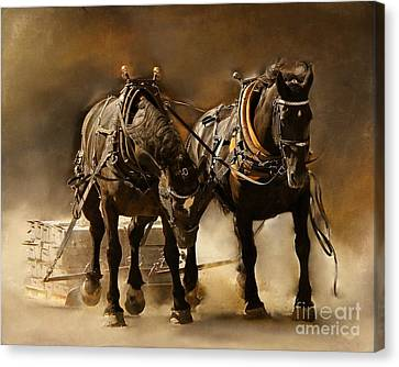 It Takes Two Canvas Print by Davandra Cribbie