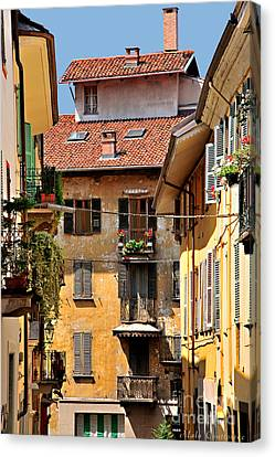 Italian Balconies Canvas Print by Malu Couttolenc