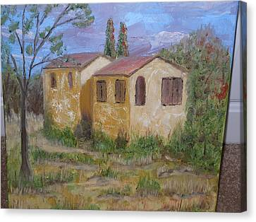 Italian Farm House Canvas Print by Terrence ORourke