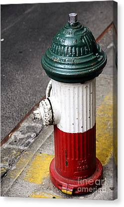 Italian Fire Hydrant Canvas Print by Sophie Vigneault