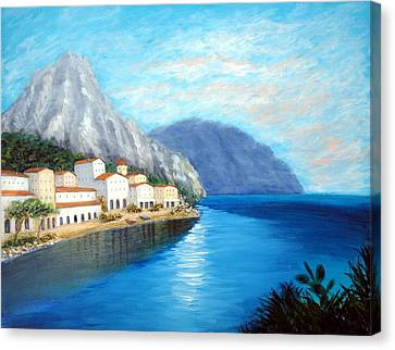 Canvas Print featuring the painting Italian Panorama by Larry Cirigliano