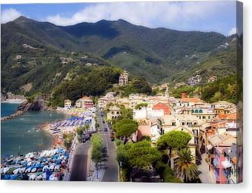 Canvas Print featuring the photograph Italian Riviera by Rod Jones