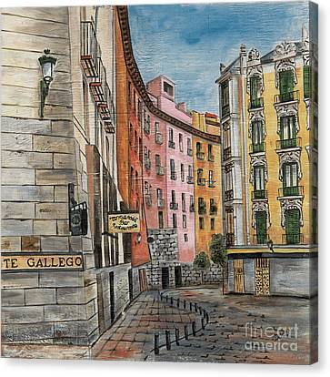 Cafe Canvas Print - Italian Village 2 by Debbie DeWitt