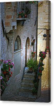 Canvas Print featuring the photograph Italian Welcome Home by Amee Cave