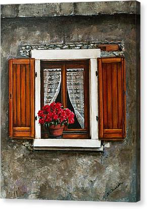 Italian Window Canvas Print by Sarah Farren