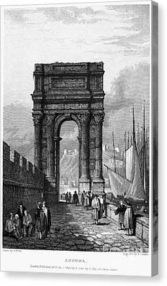 Italy: Ancona, 1833 Canvas Print