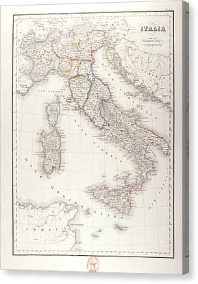 Italy Before Unification Canvas Print by Fototeca Storica Nazionale