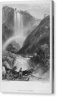 Italy: Waterfall, 1833 Canvas Print by Granger