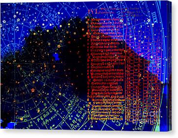Iter Per Sidera - Travel Through The Stars Canvas Print by R Kyllo