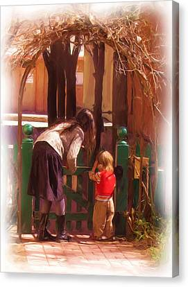 It's About The Gate Canvas Print by Feva  Fotos