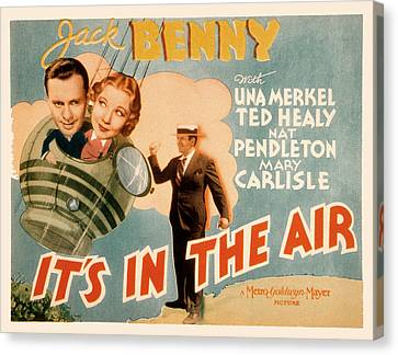 Its In The Air, Jack Benny, Una Merkel Canvas Print by Everett