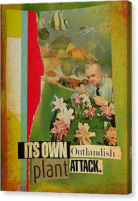 It's Own Outlandish Plant Attack Canvas Print by Adam Kissel