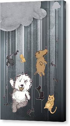 Dog Canvas Print - It's Raining Cats And Dogs by Jim Howard