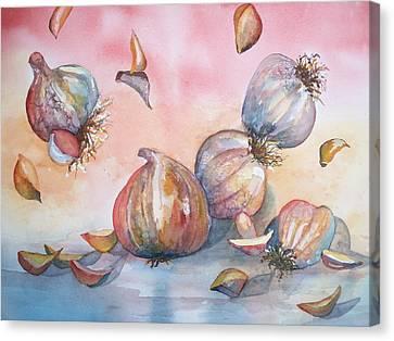 Its Raining Garlic Canvas Print