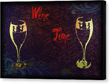Vino Canvas Print - It's Wine Time by Bill Cannon