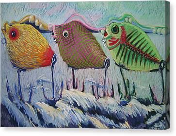 Itty Bitty Pond Canvas Print by Barbara Richert