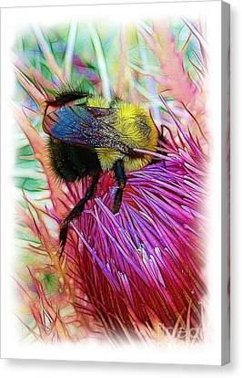 I've Fallen Into A Thistle And I Can't Get Out Canvas Print by Judi Bagwell