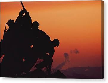 Iwo Jima Monument Partial View Canvas Print