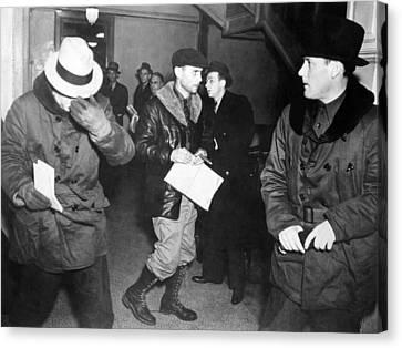 J. Edgar Hoover Arriving In St. Paul Canvas Print by Everett