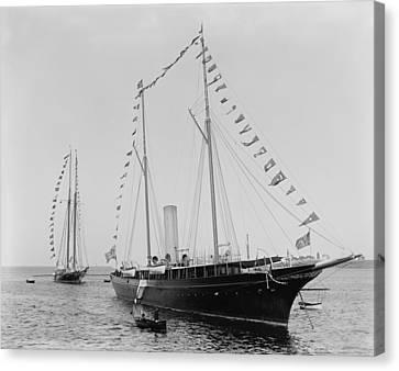 J. Pierpoint Morgans Second Yacht Canvas Print by Everett