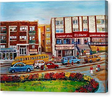 J Slawner Ltd Cote Des Neiges Canvas Print by Carole Spandau