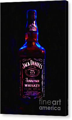 Jack Daniel's Tennessee Whiskey 80 Proof - Version 2 - Painterly Canvas Print by Wingsdomain Art and Photography
