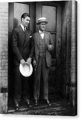 Jack Dempsey And Tex Richard, New York Canvas Print by Everett