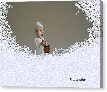Jack Frost... Caught In The Act. Canvas Print by Roland LaVallee