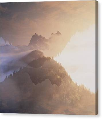 Jack Kerouac View Of Mount Hozomeen Canvas Print by David Pluth