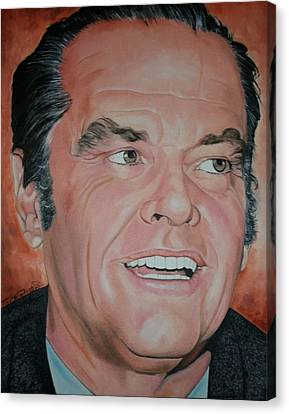 Portraits By Timothe Canvas Print - Jack Nicholson by Timothe Winstead