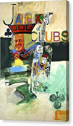 Canvas Print featuring the painting Jack Of Clubs 50-52 by Cliff Spohn