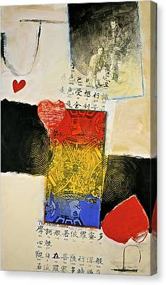 Canvas Print featuring the painting Jack Of Hearts 46-52 by Cliff Spohn