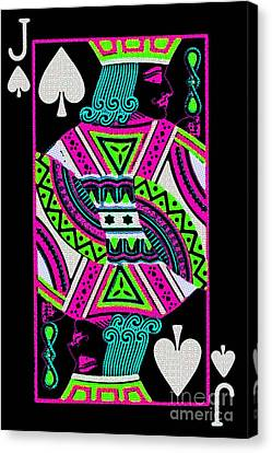 Jack Of Spades Canvas Print by Wingsdomain Art and Photography