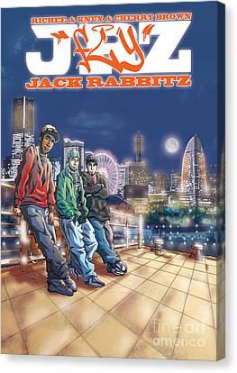 Jack Rabbitz Fly Canvas Print by Tuan HollaBack