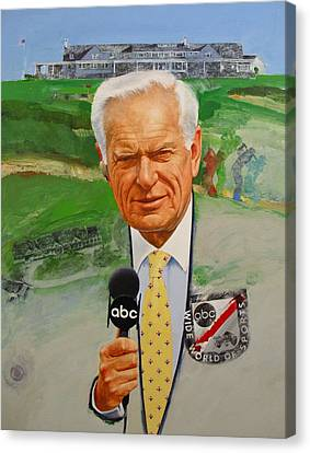 Jack Whitaker At Shinnecock Us Open 1995 Canvas Print by Cliff Spohn