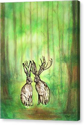 Into The Woods Canvas Print by Carrie Jackson