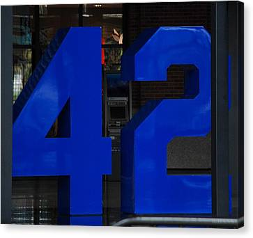 Jackie Robinson 42 Canvas Print by Rob Hans