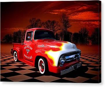 Jacks Speed Shop 1956 Ford Pickup Canvas Print