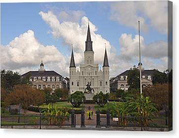 Jackson Square New Orleans Canvas Print by Bill Cannon