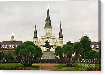 Jackson Square Canvas Print by Perry Webster