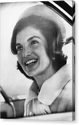 Jacqueline Kennedy, Arriving In New Canvas Print by Everett