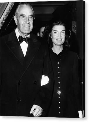 Jacqueline Kennedy In Her First Public Canvas Print by Everett