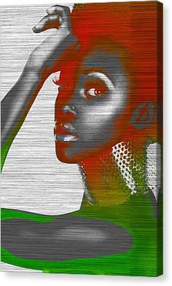 Earrings Canvas Print - Jada by Naxart Studio