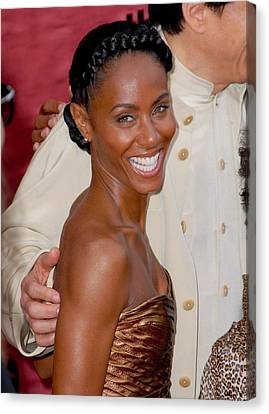 Jada Pinkett Smith At Arrivals For The Canvas Print by Everett