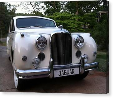 Canvas Print featuring the photograph Jaguar 1959 by Elizabeth Coats