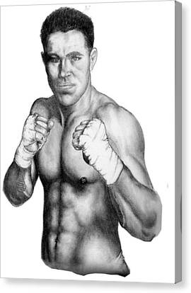Jake Shields Canvas Print by Audrey Snead